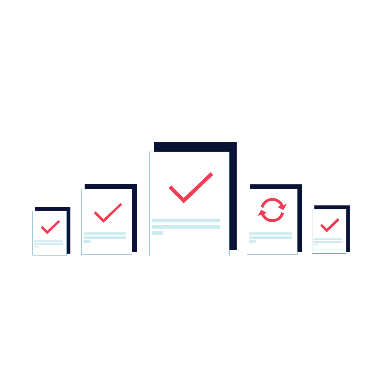 Iconography demonstrating evaluation of a training process