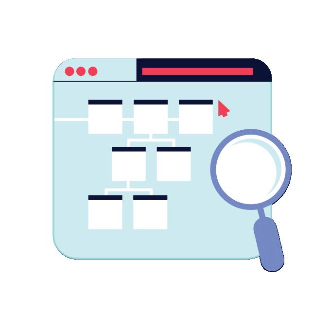 Icon depicting framework definition