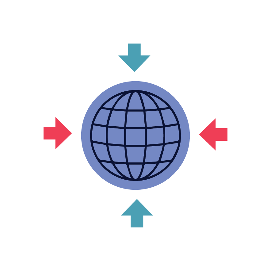 Icon depicting training and enablement for global employees