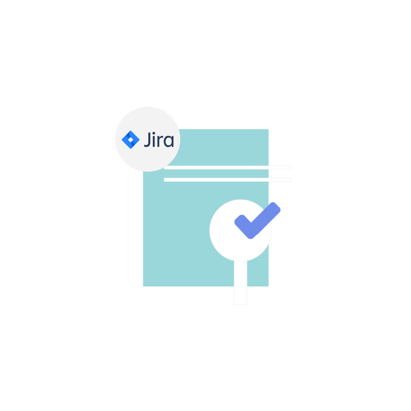 Infographic depicting support ticket management in Jira