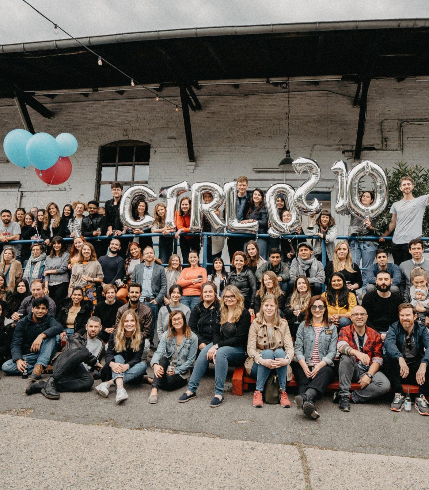 ctrl QS team photo during 10 year anniversary celebrations